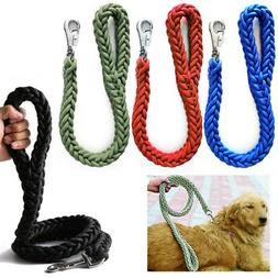1 Braided Heavy Duty Dog Leash Thick Lead Rope Medium Large