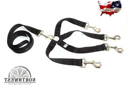 1 inch X 12inch  4 way Coupler with 5 foot Dog Leash Black