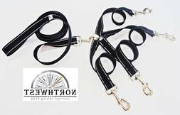 1 inch X 12inch  4 way Coupler with 5 foot Dog Leash Black R