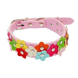 1 Pack PU Leather Cat Collar Small Dog Dogs Puppy Pet Buckle