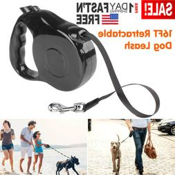 16Ft Heavy Duty Retractable Dog Leash Walking Lead for S/M P
