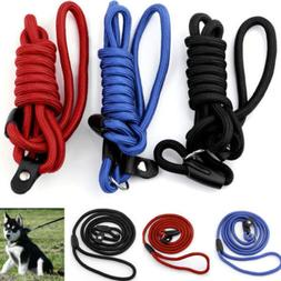 1x Pet Dog Nylon Rope Training Leash Slip Lead Strap Adjusta