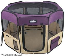 EliteField 2-Door Soft Pet Playpen, Exercise Pen, Multiple S