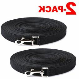 2-PACK Dog Leash Long Obedience Recall Foot Feet Training Le