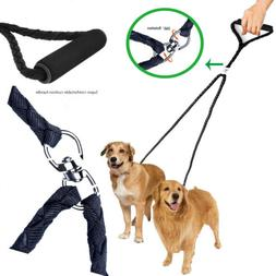 2 Way Double Multiple Dual Dog  Nylon Pet Walking Leash No T