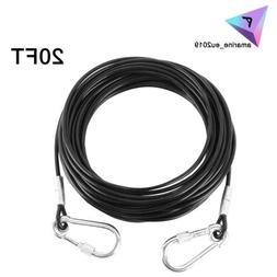 20ft Long Large Dog Tie Out Cable Wire Heavy Duty Pet Steel