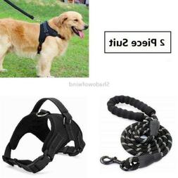 Pet Harnesses and Leash Set Adjustable Reflective No Pull Co
