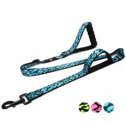 4-6 FT Adjustable Dog Leash with 2 Padded Handles for Medium