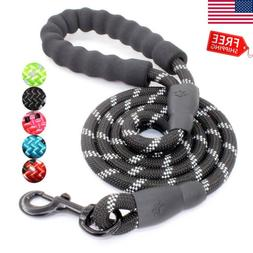 5 FT Strong Dog Leash Comfortable Padded Handle Threads for