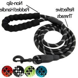 5 FT Service Dog Rope Leash Training Padded Handle Reflectiv