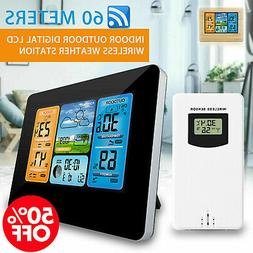 In/Outdoor Digital LCD Wireless Color Weather Station Calend