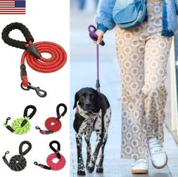 5FT 6FT Dog Leash Rope Reflective Heavy Duty Leads with  Com