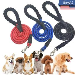 5FT Dog Leash Night Reflective Threaded Pet Training Handle