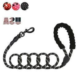5ft Nylon Padded Handle Standard Dog Leash Lead Rope Reflect