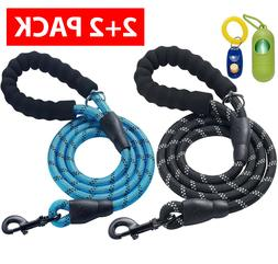5FT Strong Dog Leash Climbing Rope Reflective Thread Night S