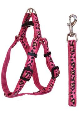 Dog Leash and Harness Pink Adjustable & Durable Set for Smal