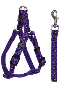 Dog Leash and Harness Purple Adjustable & Durable Set for Sm