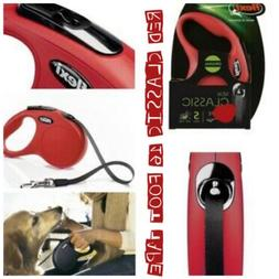 Flexi New Classic Retractable Tape Leash 16' ft Red Small Do