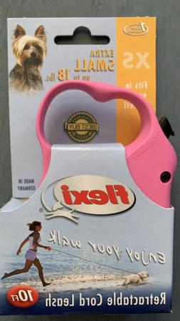 Flexi New Comfort Retractable Tape Dog Leash, Pink, X-Small,