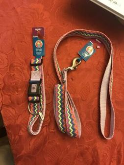 "Hamilton Nylon Herringbone 1"" Wide Dog 6 Ft Leash With Match"