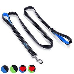 Heavy Duty Dog Leash - 2 Handles by Paw Lifestyles - Padded