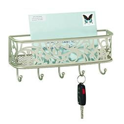 InterDesign Vine Mail Holder and Key Rack – Wall Mounted L