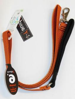 """LupinePet Eco 3/4"""" Pumpkin 6-foot Padded Handle Leash for Me"""