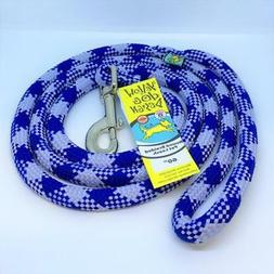 NEW Round Braided Team Colors Dog Leash by Yellow Dog - Blue