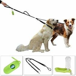 Premium Double Dog Leash - Medium to Large Dogs, Dual Leash