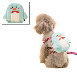 Stock Show Pet Dog Cartoon Backpack Harness with Leash, Pupp