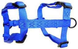 "Hamilton Adjustable Comfort Nylon Dog Harness, Blue, 1"" x 30"