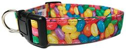 Adjustable Dog Collar in Easter Jelly Beans