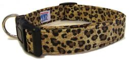 Adjustable Dog Collar in Leopard Print