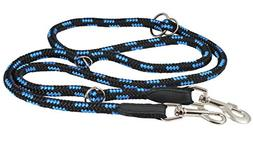 "Adjustable Multifunctional Rope Dog Leash 42""-70""  Diam, Blu"