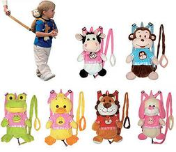 Kids Toddler Plush Travel Doll Backpack Safety Anti-lost Har
