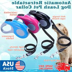 Automatic Retractable Walking Dog Leash Pet Collar 16 ft for