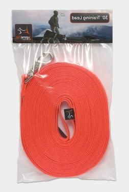 "LupinePet Basics 3/4"" Blaze Orange 30-foot Extra-Long Traini"