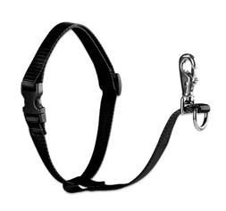 "LupinePet Basics 1"" Black 26-38"" No Pull Harness for Medium-"