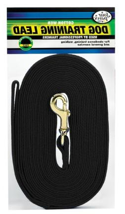 Four Paws Black 10 Foot Cotton Web Dog Lead