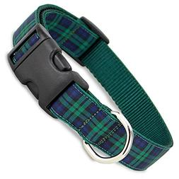 The Artful Canine Blackwatch Plaid Dog Collar, X-Small Dogs
