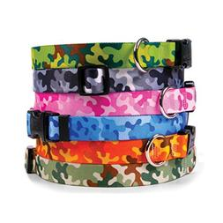 Camouflage Dog Collar - with Tag-A-Long ID Tag System - Camo
