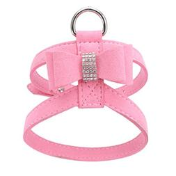 YJYdada Chest Straps, Adjustable Pet Dog Leads Bowknot Diamo