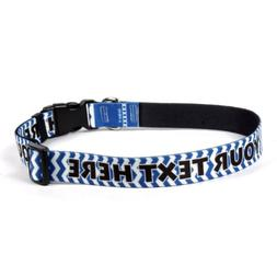 "Chevron Blueberry Personalized Dog Collar - Small 3/4"" Wide"