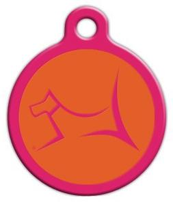 Club by Lupine - Sunset Orange - Custom Pet ID Tag for Dogs