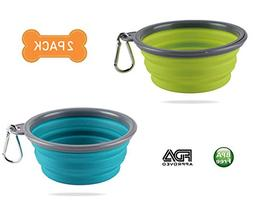 Hcupet Collapsible Dog Bowl, Food Grade BPA Free Silicone, E