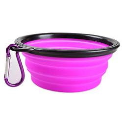 Hosaire Collapsible Dog Bowl, Food Grade Silicone BPA Free ,