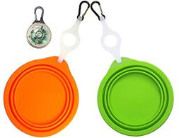 coubon Collapsible Dog Bowls, Portable Dog Travel Bowls with