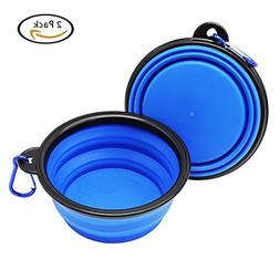 Glendan Collapsible Travel Dog Water & Food Bowl Silicone Tr