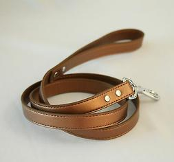 Copper dog Leash, Pet accessory,Leather leash, Color of 2017
