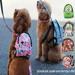 US Stock Cute Dog Backpack & Leash Pet Bag Travel Carrier Ou